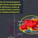Foto: Protección Civil recomendó a la población estar atentos a los avisos, porque se esperan lluvias intensas este fin de semana, 27 de julio de 2019 (Twitter @conagua_clima)