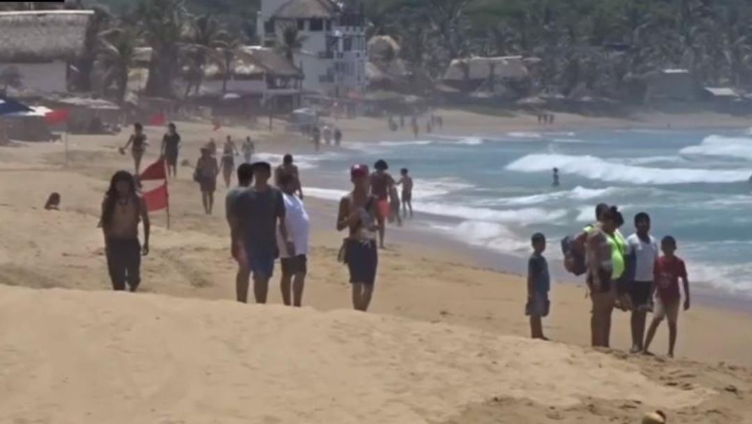 Foto: La playa de Zipolite, es la playa nudista más famosa de México, 28 de julio de 2019 (Noticieros Televisa)