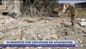 34 muertos por explosión en Afganistán