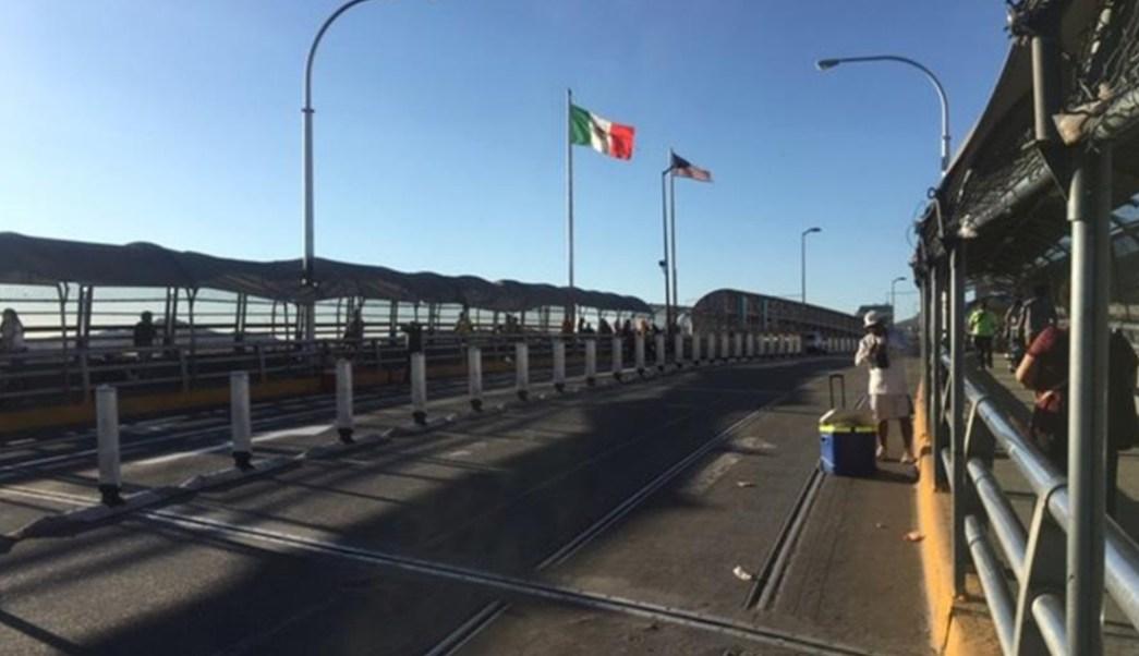 Foto: Durante el fin de semana los puentes internacionales a El Paso estaban casi vacíos, 11 de agosto de 2019 (EFE)