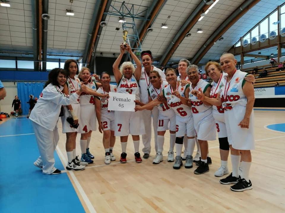 Foto: Selección mexicana de basquetbol +65. 5 agosto 2019.