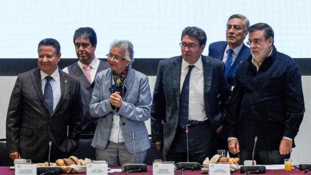 Foto: La ministra en retiro en la reunión plenaria de legisladores de Morena, 30 de agosto de 2019 (Cuarto Oscuro)