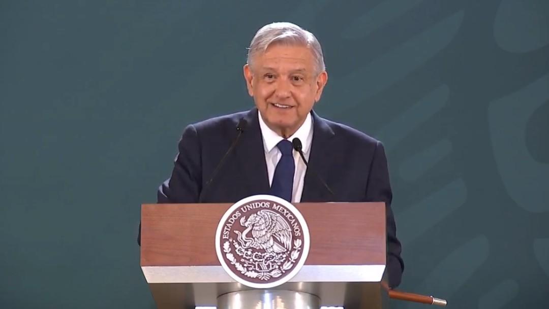 Foto: López Obrador en conferencia, 9 de agosto de 2019, Durango