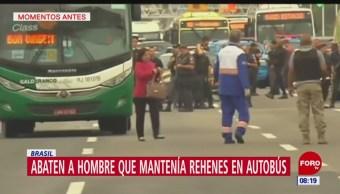 Abaten a hombre que tomó rehenes en autobús en Río de Janeiro, Brasil