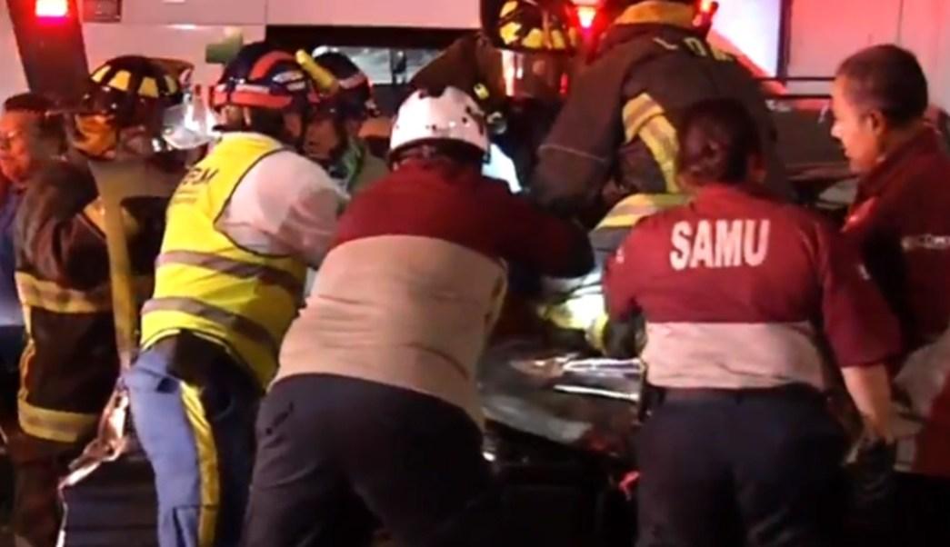 Foto: Accidente deja tres lesionados, 16 de agosto de 2019, Ciudad de México