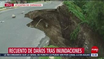 Foto: Socavón LLuvias Afectaciones Atizapan