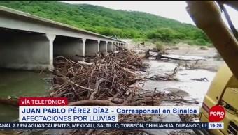 Foto: Afectaciones Por Lluvias En Sinaloa Por Tormenta Tropical Ivo