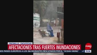 FOTO: Afectaciones tras fuertes inundaciones en Fresnillo, Zacatecas, 24 Agosto 2019