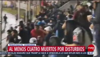 FOTO: Al menos 4 muertos por disturbios en Tegucigalpa, Honduras, 18 Agosto 2019