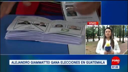 Alejandro Giammattei gana elecciones en Guatemala