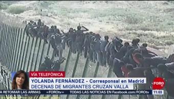 FOTO: Alrededor de 150 migrantes saltan la valla de Ceuta, 31 Agosto 2019