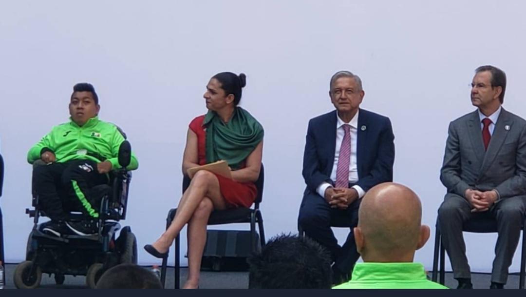 Foto: La titular de la Conade señaló que los estímulos que ofreció el Presidente López Obrador influirán positivamente en el rendimiento de los deportistas, 13 de agosto de 2019 (Twitter @CONADE)