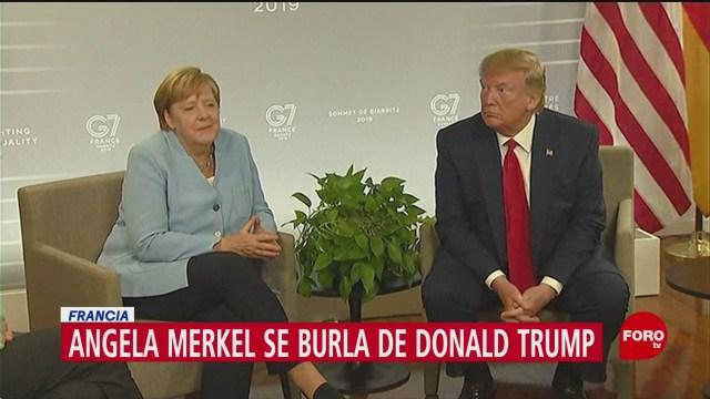 FOTO: Angela Merkel Se Burla Trump Por Tener Sangre Alemana