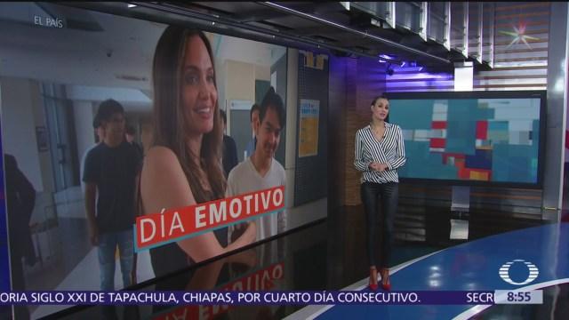 Angelina Jolie despide a su hijo Maddox, que va a la Universidad