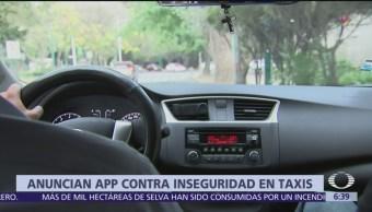 Anuncian app contra inseguridad en taxis en CDMX