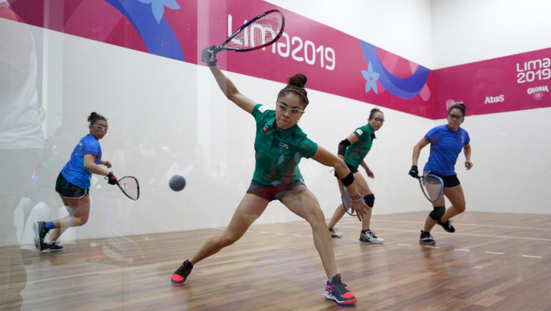 Foto: Todo fue oro para México en el raquetbol femenino de Lima 2019, (AP)