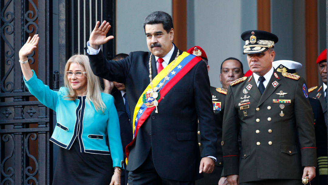 Foto: Maduro acusa a Trump de intervencionista, 10 de agosto de 2019 (AP)