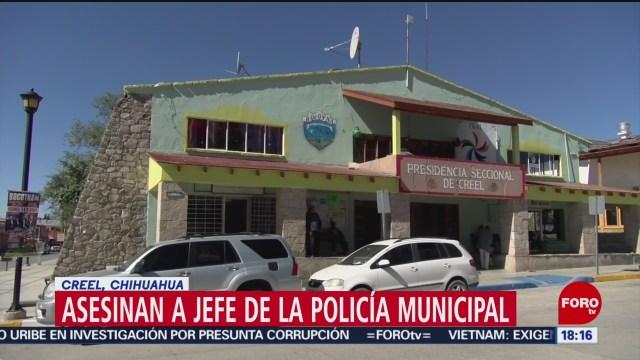 FOTO: Asesinan jefe Policía Municipal Creel Chihuahua