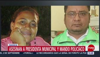 FOTO: Asesinan a presidenta municipal y mando policiaco en Oaxaca, 17 Agosto 2019