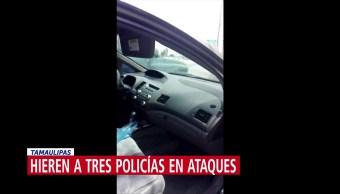 Atacan a agentes en Nuevo Laredo, Tamaulipas
