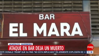 FOTO: Ataque en bar deja un muerto en Acapulco, Guerrero, 31 Agosto 2019