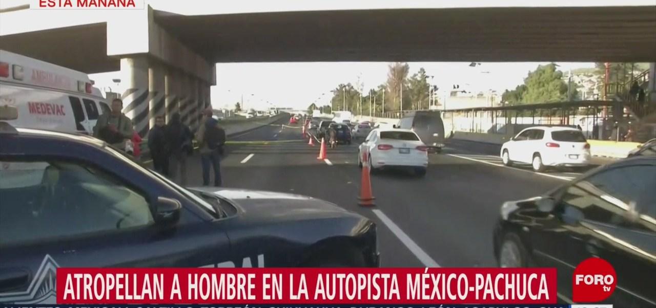 FOTO: Atropellan Hombre Autopista México-Pachuca