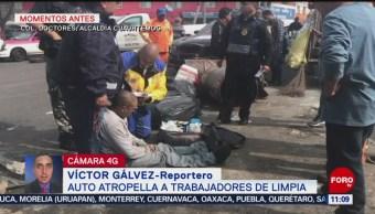 Atropellan a trabajadores de limpia en la colonia Doctores, CDMX