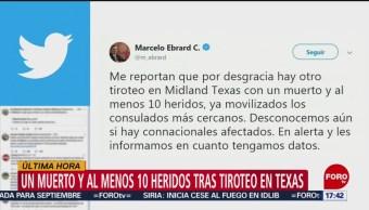 FOTO: Autoridades mexicanas, atentas por nuevo tiroteo en Texas, 31 Agosto 2019