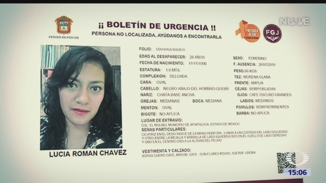 FOTO: Ayuda Para Localizar Lucía Román Chávez Desaparecida Ixtapaluca