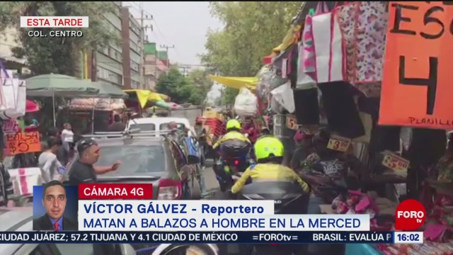 Foto: Balacera Comerciante Muerto La Merced Cdmx 23 Agosto 2019