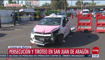 FOTO: Balacera persecución San Juan de Aragón deja un muerto dos heridos