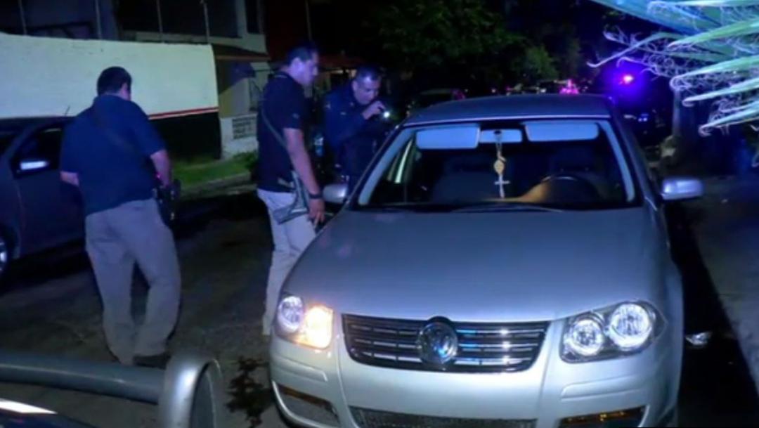 Foto: La policía del municipio aseguró el auto del responsable y 4 casquillos percutidos calibre .9 milímetros, 31 de agosto de 2019 (Noticieros Televisa)