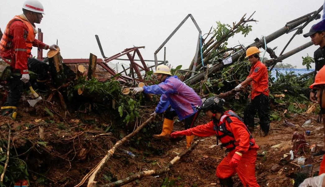 Deslave en Birmania deja al menos 30 muertos y varios desaparecidos