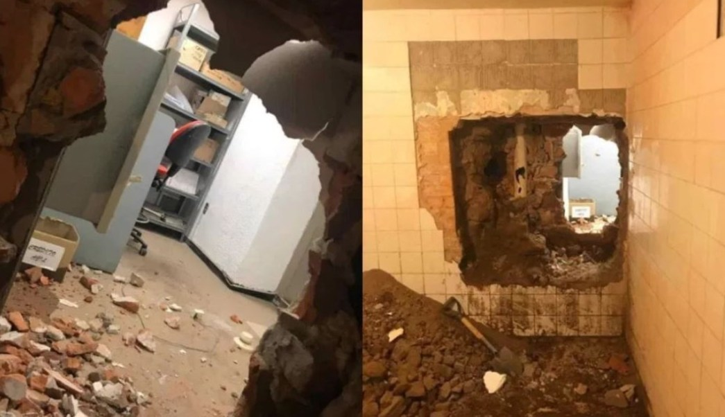 Crean túnel para robar bóveda bancaria en San Luis Potosí