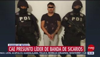 FOTO: Cae presunto líder de banda de sicarios en CDMX, 24 Agosto 2019