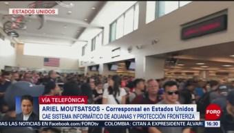 FOTO: Cae Sistema Aduanas Protección Fronteriza Varios Aeropuertos Estados Unidos 16 agosto 2019