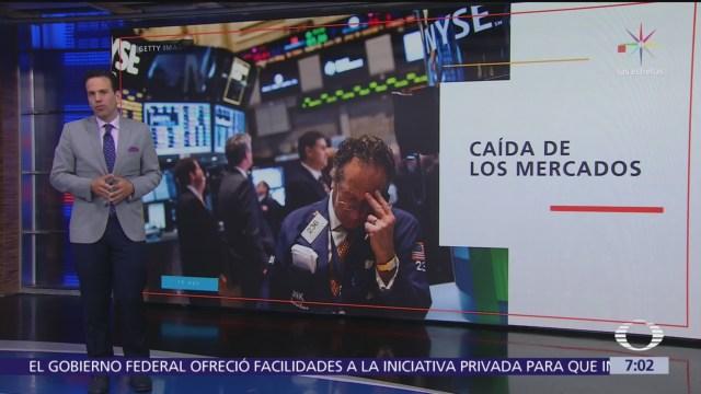 Caen bolsas del mundo ante temores de recesión