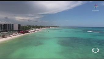 Foto: Cambio Meteorológico Limpia Playas Quintana Roo Sargazo 1 Agosto 2019