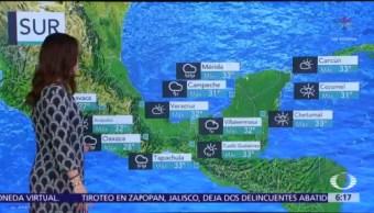 Canales de baja presión provocarán lluvias en 30 regiones de México