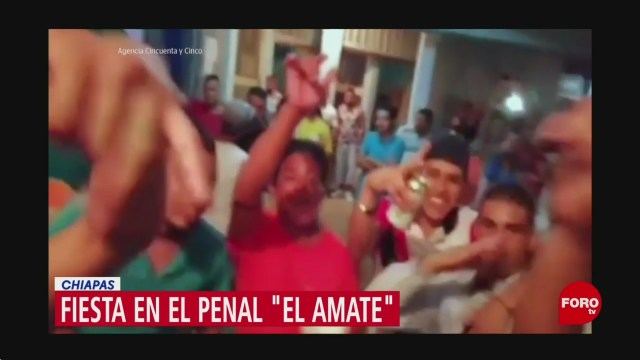 Foto: Video fiesta penal El Amate Chiapas