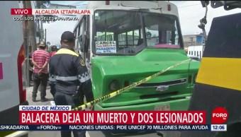 Chofer de transporte público narra ataque armado en Iztapalapa
