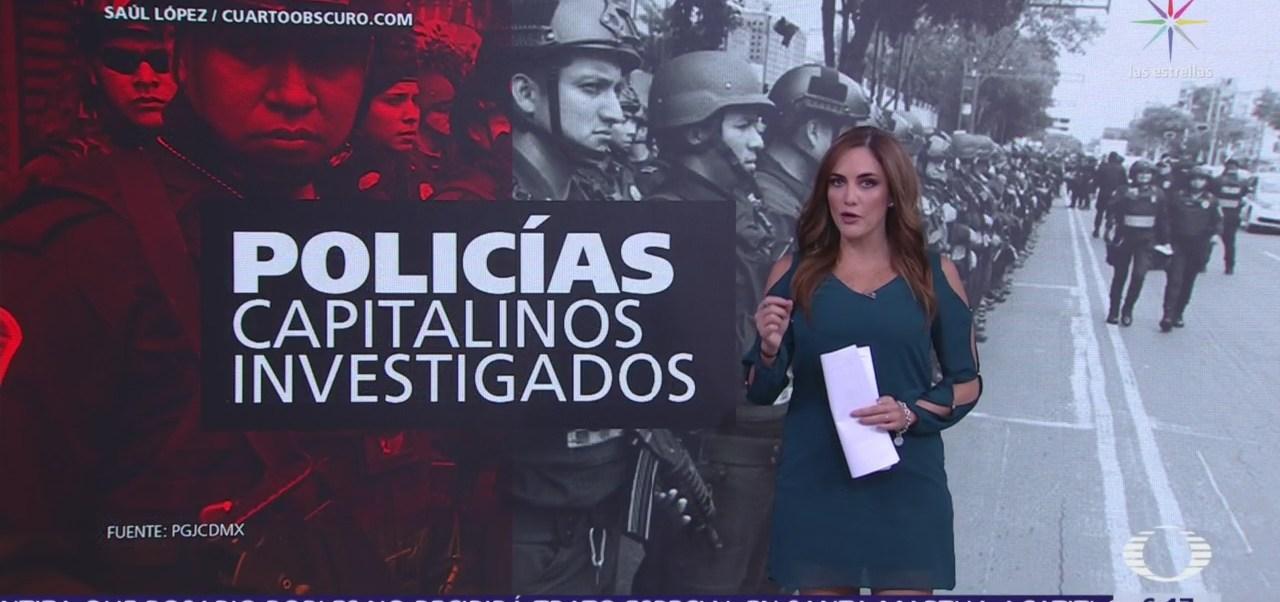 Cifras de policías investigados en la CDMX