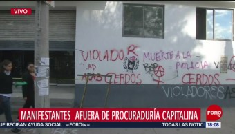 Foto: Concluye Protesta Mujeres PGJ-CDMX