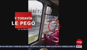 Foto: Conductor Metrobús Atropella Golpea Ciclista 19 Agosto 2019