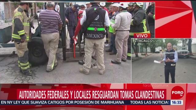 FOTO: Continua Reparación Toma Clandestina Iztacalco CDMX