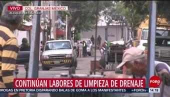 FOTO: Continúan Labores Limpieza Drenaje Iztacalco