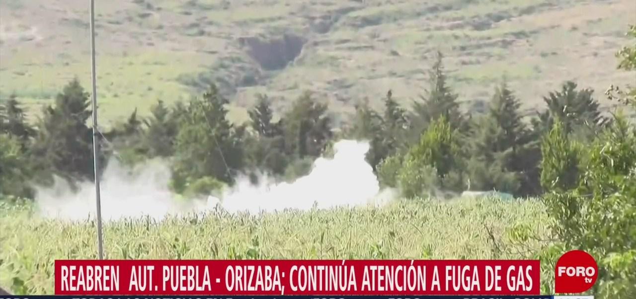 FOTO: Continúan trabajos para controlar fuga gas Puebla