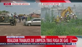 FOTO: Controlan fuga de gas LP en Tezoyuca, Edomex; no hay lesionados, 24 Agosto 2019