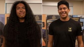 Foto se hizo su primer corte de cabello en 15 años para unirse al ejército 19 agosto 2019