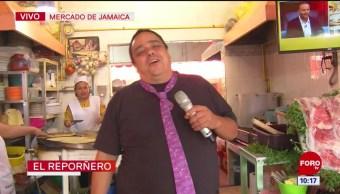 #CotorreandoconlaBanda: 'El Repor' suelto en el Mercado Jamaica